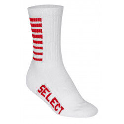 CHAUSSETTES DE SPORTS A RAYURES BLANC/ROUGE SELECT