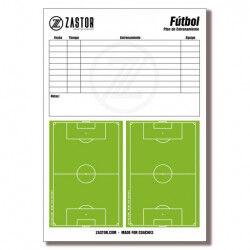 PLANIFICATEUR DE FORMATION 21X29 CM - A4 POUR PLANCHE TACTIQUE FOOTBALL ZASTOR