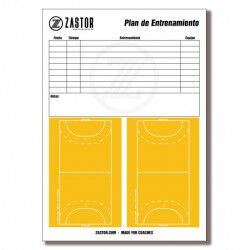 PLANIFICATEUR DE FORMATION 21X29 CM - A4 POUR PLANCHE TACTIQUE HANDBALL/FUTSAL ZASTOR
