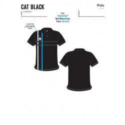 POLO MANCHES COURTES MARDOCK LIGNE CAT BLACK SPORTS ERREA