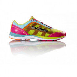 CHAUSSURES DE RUNNING DISTANCE D3 DAME ROSE TURQUOISE SALMING SOLDES
